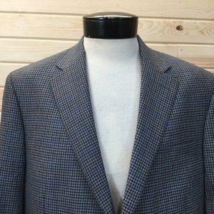 Hart Schaffner Marx Check Blazer Wool 44R